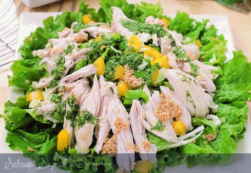 Afrodit Soslu Tavuk Salatası Tarifi