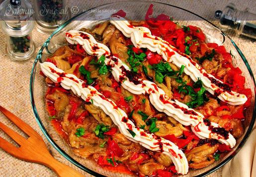 Arnavut Biberli Patlıcan Salatası Tarifi