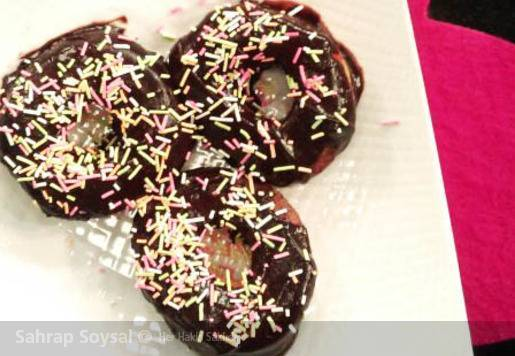 Çikolata Soslu Donut - Amerikan Çöreği Tarifi