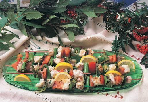 Fener Balığı Şiş Kebap Tarifi
