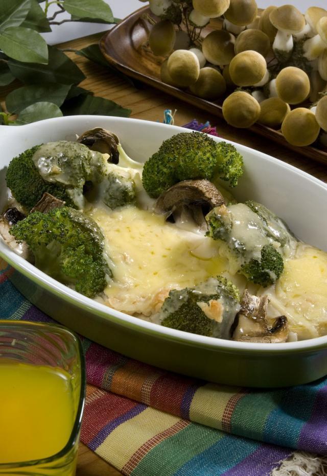 Fırında Mantarlı Brokoli Tarifi
