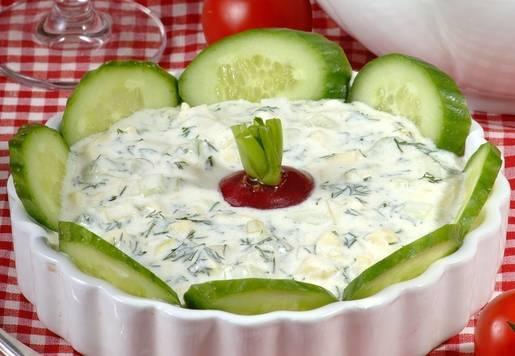 Kabaklı Cacık Salatası Tarifi
