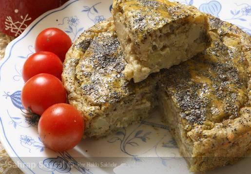 Köz Patlıcanlı Patatesli Kek Tarifi