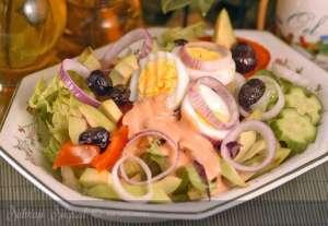 Avokadolu Dominik Salatası Tarifi