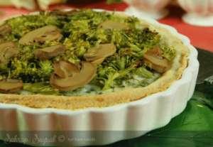 Brokolili Mantarlı Kişloren Tarifi