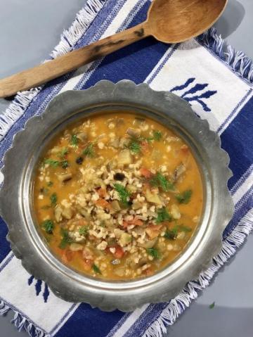 Buğdaylı Patlıcanlı Manca Çorbası Tarifi