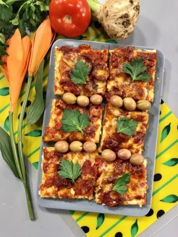 Çerkez Peynirli Glutensiz Pizza Tarifi