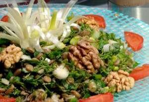 Cevizli Mercimek Salatası Tarifi
