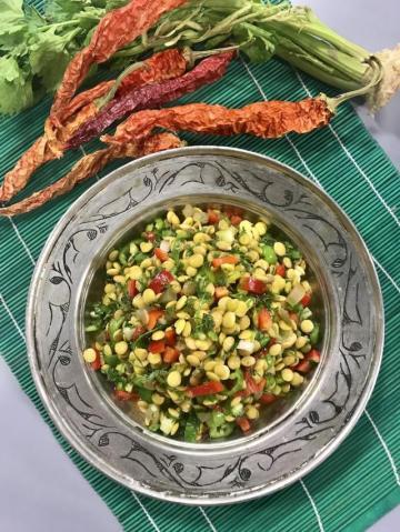 Filizlendirilmiş - Çimlendirilmiş Yeşil Mercimek Salatası Tarifi