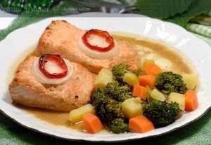 Fırında Baharatlı Somon Balığı Tarifi