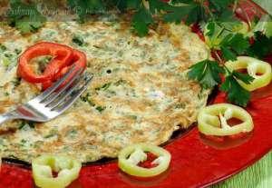 Ispanaklı Otlu Omlet Tarifi