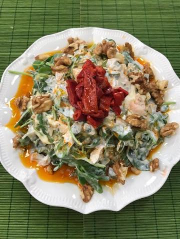 Kabaklı Semizotlu Harbiye Salatası Tarifi