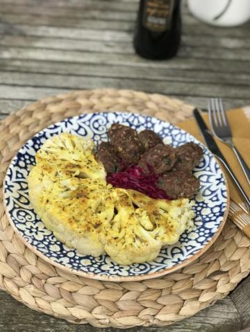Köfte Yanında Fırınlanmış Zeytinyağlı Baharatlı Karnabahar Tarifi