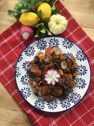 Kök Sebze Salatası Tarifi