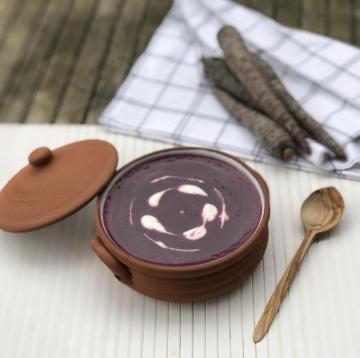 Kremalı Mor Havuç Çorbası Tarifi
