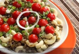 Mercimekli Makarna Salatası Tarifi