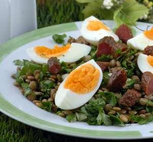 Mercimekli Peyvaz Salatası Tarifi