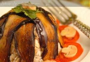 Patlıcanlı Mantarlı Pilav Tarifi