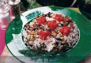 Patlıcanlı Midyeli Pirinç Pilavı Tarifi