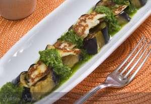 Pesto Soslu Patlıcan Mezesi Tarifi
