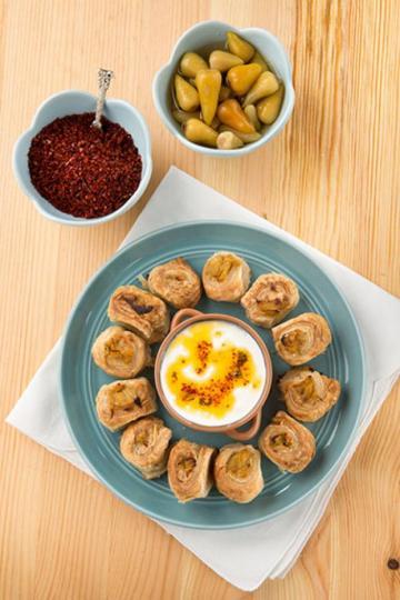 Peynirli Patlıcanlı Milföy Tarifi