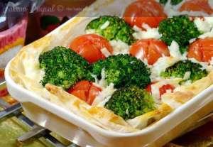 Sebzeli Hazır Yufka Pizzası Tarifi