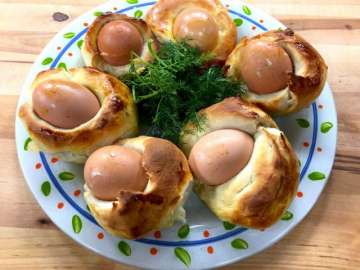 Yumurtalı Sürpriz Ekmek Tarifi